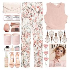 """Pink Florals"" by doga1 ❤ liked on Polyvore featuring Zara, Jonathan Simkhai, GUESS, Herbivore, Bobbi Brown Cosmetics, Steve Madden, Armitage Avenue, Urban Decay, Gucci and NuCasa"
