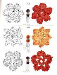 patrones de flores en crochet paso a paso - Buscar con Google
