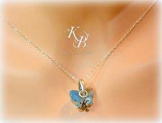 Personalized Flower Girl Jewelry, Butterfly Necklace, Wedding Jewelry, Flower Girl Gift, Little Girl Necklace, Personalized Girl Gift