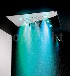 Pure indulgence comes at a price!  This luxury shower head is 600mm x 600mm with an array of coloured lights.  With an RRP of £4950, the Crosswater Rio Square is a bargain here at just £3960 with free delivery!!!  www.cw4u.co.uk/...  I'd love one of these but I really don't spend enough time in the shower to justify that sort of expense.