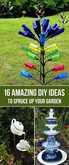 16 Amazing DIY Ideas to Spruce Up Your Garden - Make your garden the Best looking in the neighbourhood with these DIY garden decorations