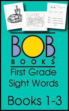 Free BOB Books First Grade Sight Word Printables - i used these with my niece when she was 4, when she got to kindergarten, she was the most advance child there! Love these