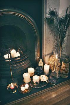 Décoration lumineuse avec bougies