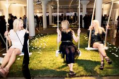 The Chicago Museum of Contemporary Art's 2009 ArtEdge benefit had a lighthearted feel, with childhood games and activities including a large swing set.