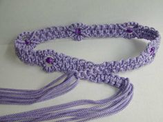 macrame belt with great tute (including diag double half hitch)