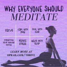 6 reasons why everyone should meditate and why you should start now #ThriveOCourse