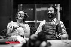 There were a few laughs while listening to a recorded message from Erik's family who couldn't make it to the wedding. Good job David with Audio Affiliated for providing them with that moment. #wedding #idaho #documentary #bride #groom #reception #toasts #laughter #blackandwhite