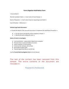 Authorization for Records Destruction Form - Use the Authorization ...
