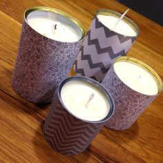 Kerzen in Dosen / Candles in tins / Upcycling