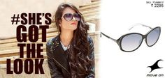 Get yourself one of our oversized sunglasses! #ShesGotTheLook http://fastrack.in/product/p249bk1f   #Fastrack #Sunglasses #Fashion