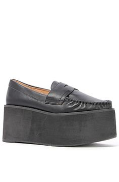 Jeffrey Campbell Shoe Calf Leather Weller in Black : MissKL.com - Cutting Edge Women's Fashion, Accessories and Shoes.
