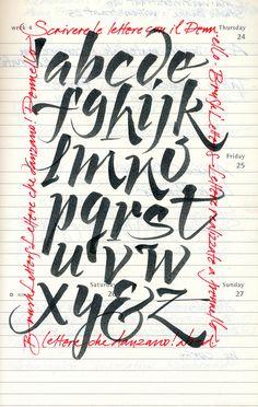 brushpen alfabeto
