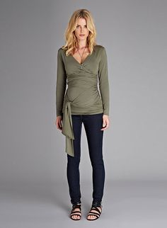 The Ruched Maternity Wrap Top