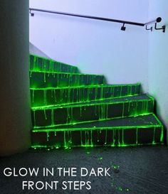 Glow-in-the-Dark Front Steps - 5 Halloween Party Décor Ideas for Adults