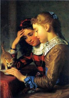 The New Arrival by Seymour Guy (1824-1910)