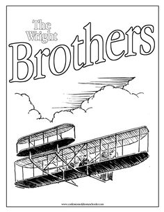coloring pages for wright brothers - photo#26