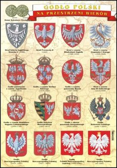 Polish Names, Poland History, Polish Language, Visit Poland, Polish Recipes, Crests, My Heritage, Coat Of Arms, Logo Nasa