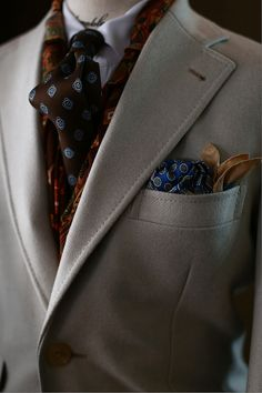 """The Style Buff // by Gianni Fontana — tailorablenco: """" Cream Coat: 'Holland&Sherry..."""