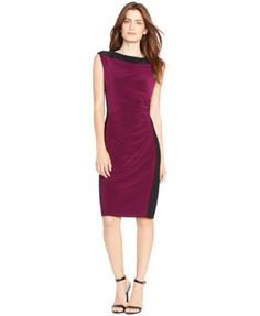 Lauren Ralph Lauren Colorblocked Sheath Dress