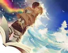 Eren & Armin ((dont talk to me about eremin,, i will cry))