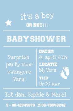 lovz.nl | babyshower uitnodigingskaart | blauw jongen | zelf maken