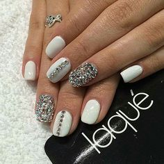Love these blinged out nails!