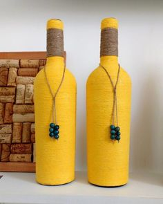 Each of these wine box designs are considered the most beautiful ways to repurpose schooner ships, each of these quick and easy DIYs make. Beer Bottle Crafts, Plastic Bottle Crafts, Diy Bottle, Wine Bottle Candles, Wine Bottle Art, Painted Wine Bottles, Empty Bottles, Glass Bottles, Wrapped Wine Bottles