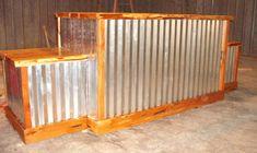 Western Cedar live edge counter-tops 1 1/2 thick, cedar trim & back shelf , metal wrapped, custom made for Frontiere Natural Meats of Colorado. 2495