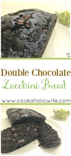 This chocolate bread is so decadent you'll have no idea its full of zucchini too. #zucchinibread #chocolatezucchinibread #bakingrecipes