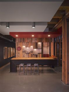 Image 4 of 12 from gallery of Westland Distillery / Urbanadd. Courtesy of Urbanadd Restaurant Design, Restaurant Bar, Restaurant Interiors, Westland Distillery, Public Architecture, Space Furniture, Cafe Bar, My Dream Home, Gallery