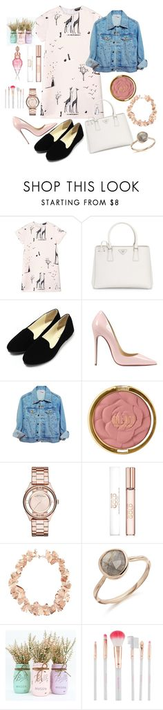 """"""""""" by semela-resuli ❤ liked on Polyvore featuring Rochas, Prada, Christian Louboutin, High Heels Suicide, Milani, Marc by Marc Jacobs, Michael Kors, Aurélie Bidermann and Accessorize"""