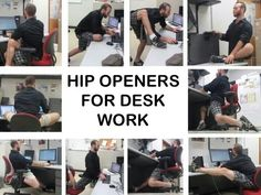 A great infographic by my friend Ian. Open up your hips while working at a desk! #Stretch #flexibility #officeyoga