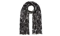 Marble Print Crinkle Scarf, Black and White | WHISTLES