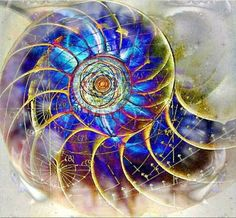 """""""The path isn't a straight line; it's a spiral. You continually come back to things you thought you understood and see deeper truths."""" ~ Unknown Artist: Rainbow Circle ॐ- Mysticism - Spirituality -. Fibonacci Spiral, Deep Truths, Golden Ratio, Visionary Art, Sacred Art, Flower Of Life, Fractal Art, Sacred Geometry, Tarot"""