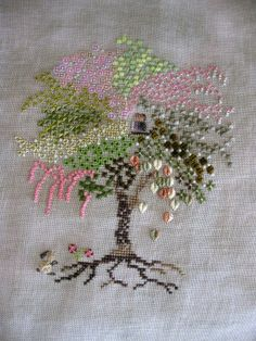 clever use of stitches Ribbon Embroidery, Embroidery Art, Cross Stitch Embroidery, Embroidery Patterns, Brazilian Embroidery, Stitch Design, Embroidery Techniques, Needlework, Clever