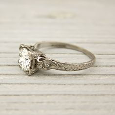Vintage filigree diamond engagement ring with Erstwhile Jewelry & The Frosted Petticoat- pretty