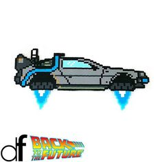 Delorean Back to the Future perler beads by dopefuse