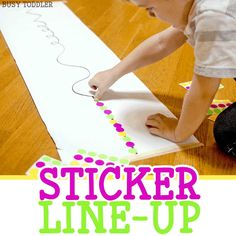Tons of easy dot sticker activities for toddlers and preschoolers. A great list of indoor activity ideas; quick and easy activities from Busy Toddler. Nanny Activities, Indoor Activities For Toddlers, Activities For 2 Year Olds, Preschool Learning Activities, Infant Activities, Kids Learning, Outdoor Play For Toddlers, Activities For Babies Under One, Educational Crafts For Toddlers