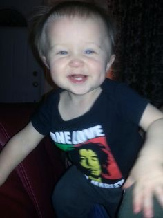 Kiditude - Bob Marley One Love modeled by Aiden