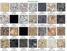 Diffe Granite Colors Countertops Kitchen Cabinet