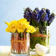 Easter Flower Arrangements Easter Flowers – Symbolic of Renewal and Spring Easter Flower Arrangements. There are specific kinds of flowers that are typically used in celebrating Easter, which… Easter Flower Arrangements, Easter Flowers, Table Arrangements, Spring Flowers, Floral Arrangements, Fresh Flowers, Orange Flowers, Spring Blooms, Flower Vases