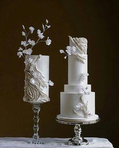 Elegant Cake Design, Elegant Cakes, Cake Decorating Designs, Fondant Wedding Cakes, Cake Trends, Paper Cake, Ideas Para Fiestas, Wedding Cake Inspiration, Party Entertainment