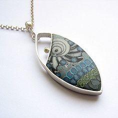 Anna Fideca-silver, polymer clay (mokume gane')