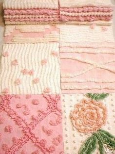 Chenille quilt...I am discovering that I love lots of textures.
