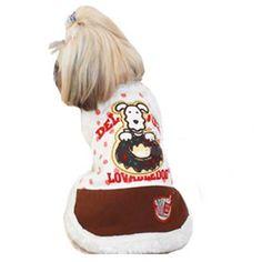 Blusa para Cachorro Donuts Branco com Marrom Gutti Pet - MeuAmigoPet.com.br #petshop #cachorro #cão #meuamigopet
