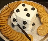 Dice dip for game night party on New Year's Eve.