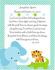 A Prayer for a Baby Boy - Baptism Gift Nursery Art Kids Wall Art Baby by JustSayItOutLoud, $8.00