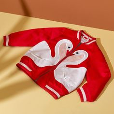 Swan love ❤️ #StellaKids spread the love in bomber jackets from the new collection, online now!