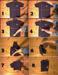 FOLD A T-SHIRT IN 2 SECONDS.  This technique really works.  You can do this.  It makes folding short-sleeved and sleeveless tops a breeze.  Save time folding your laundry. Watch this short video or look at photos of the easy steps.