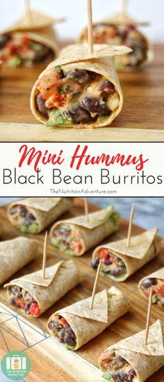 Mini Hummus Black Bean Burritos | The Nutrition Adventure